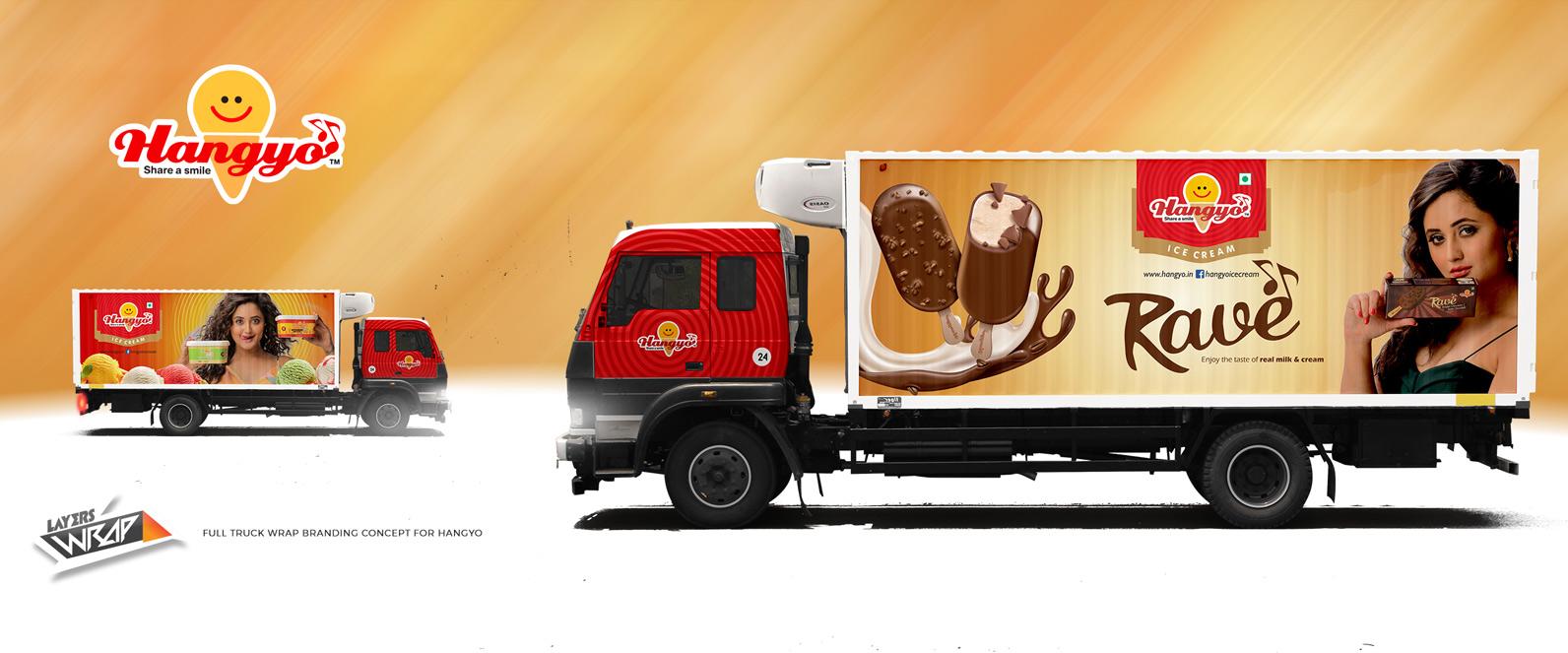 Hangyo Ice Cream Full Truck Branding