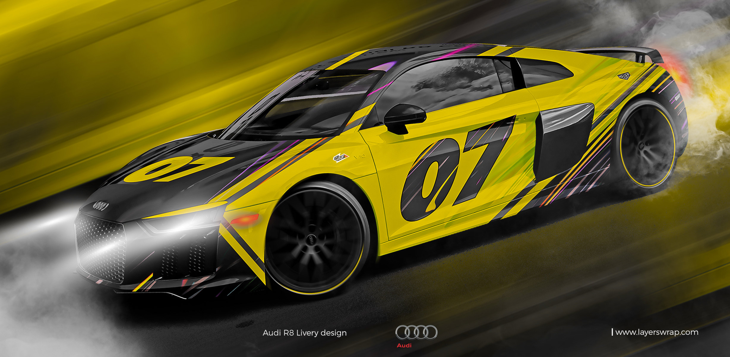 Audi R8 wrap design for Sale