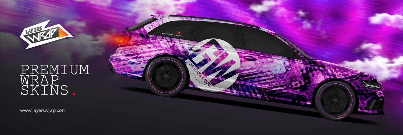 Audi RS 6 Avant Purple wrap
