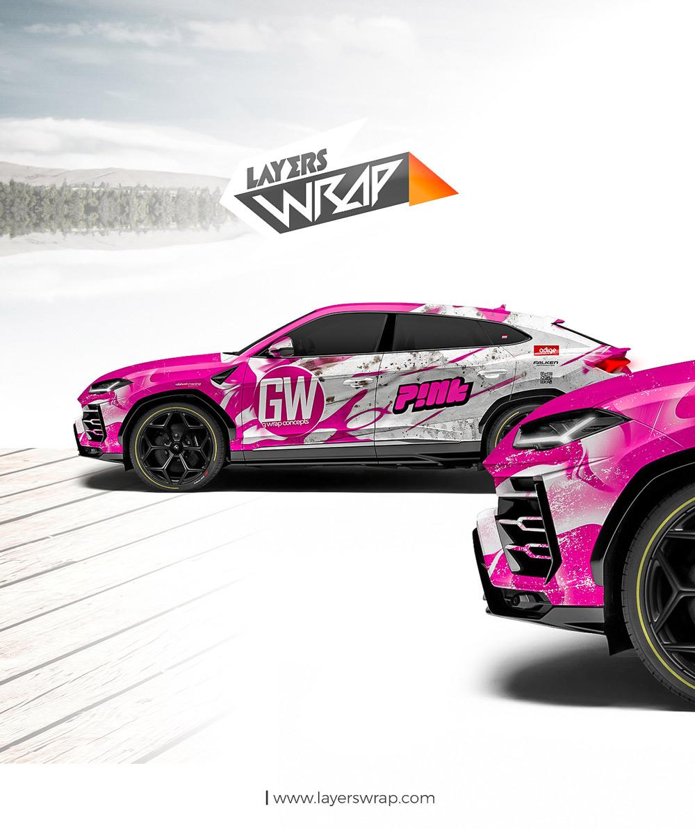 Lamborghini Urus Pink Wrap